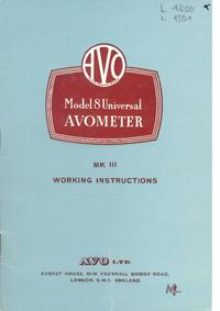 AVO Avometer 8 MK III