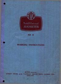 AVO AVOMETER Mk II