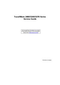 Acer TravelMate 3270 Series