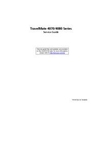 Acer TravelMate 4080 Series