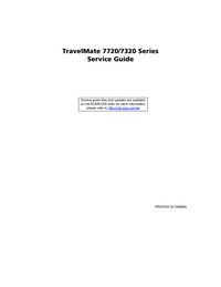 Acer TravelMate 7720 Series