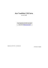 Acer TravelMate C300 Series