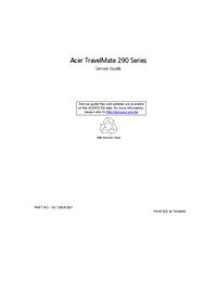 Acer TravelMate 290 Series