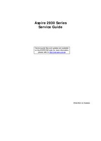 Acer Aspire 2930 Series