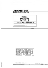 Advantest TR4153B
