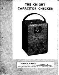 AlliedRadio Knight Capacitor Checker
