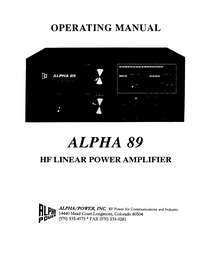 Alpha Alpha 89
