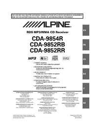 Alpine CDA-9852RB