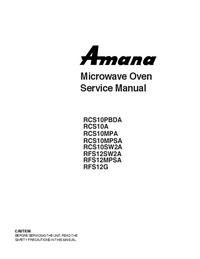 Amana RCS10MPSA