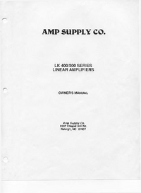 Ampsuply LK 400 SERIES