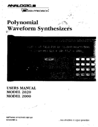 Analogic-9664-Manual-Page-1-Picture