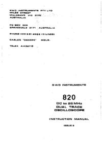 BWD 820