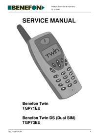 Benefon-3036-Manual-Page-1-Picture