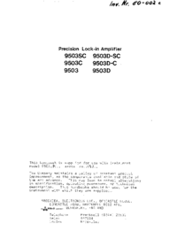 Brookdeal 9503D-SC