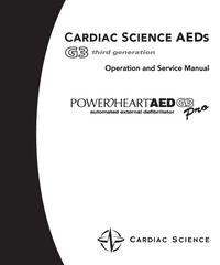 CardiacScience Powerheart AED G3 Pro