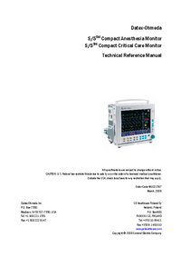 DatexOhmeda S/5 Compact Critical Care Monitor