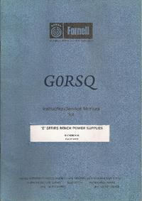 Farnell GORSQ E SERIES