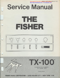 Fisher TX-100