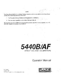 Fluke 5440B/AF