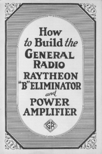 "GR RAYTHEON ""B""ELIMINATOR"