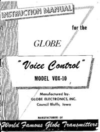Globe Voice Control VOX-10