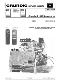 Grundig Chassis G 1000 Stereo (ST 03)