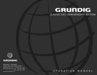 Grundig CLASSIC 960 ANNIVERSARY EDITION