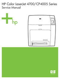 HewlettPackard Color LaserJet CP4005 Series