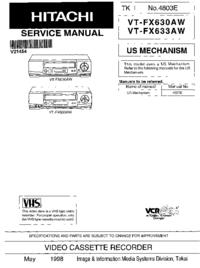 Hitachi VT-FX630AW