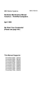 IBM ThinkPad 370x (9545)