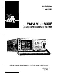 IFR FM/AM -1600S