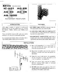 Icom IC-AG 1200