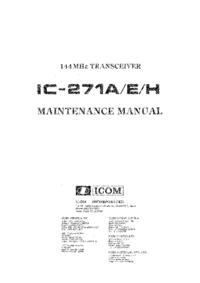 Icom IC-271H