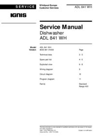 Ignis ADL 841 WH