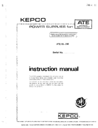 Kepco ATE 55—2 M