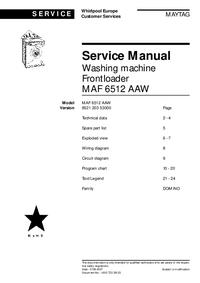 Maytag MAF 6512 AAW