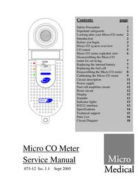MicroMedical Micro CO Meter
