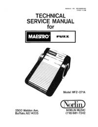 Norlin Maestro Fuzz MFZ-271A