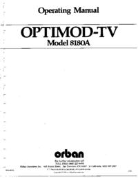Orban OPTIMOD-TV 8180A
