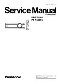 Panasonic PT-AE500E