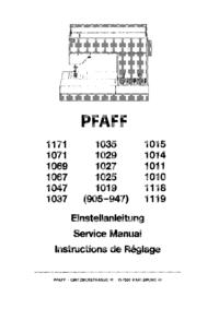 Pfaff 1037