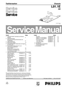 service manual philips - l01 1e ab