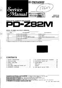 Pioneer PD-Z82M SD