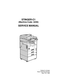 Ricoh STINGER-C1 (Machine Code: A250)