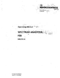 RohdeUndSchwarz FSB 848.0020.52
