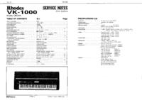 Roland Rhodes VK-1000