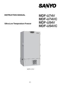 Sanyo MDF-U74V