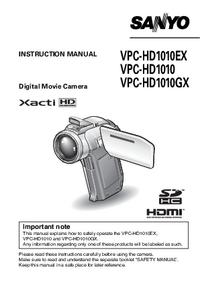 Sanyo VPC-HD1010GX