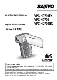 Sanyo VPC-HD700EX