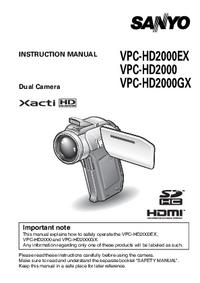 Sanyo VPC-HD2000GX